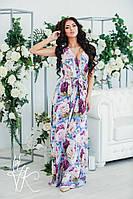 Шикарное летнее платье в пол с запахом
