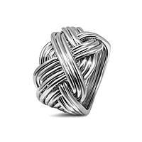 Мужское серебряное кольцо головоломка от Wickerring