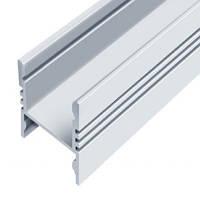 Профиль аллюминиевый LED ЛПС17 17х16, анодированный, цвет - серебро, 1м, фото 1