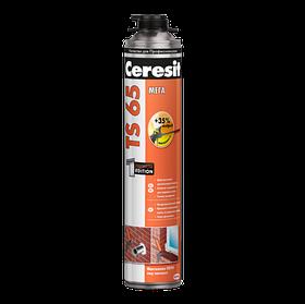 Монтажная пена Ceresit TS 65 с мегавыходом профессиональная (под пистолет) 850 мл