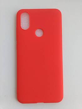 Силиконовый чехол для Xiaomi Mi 6X / Mi A2 красный матовый