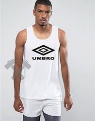 Мужская майка Umbro белого цвета  (люкс копия)