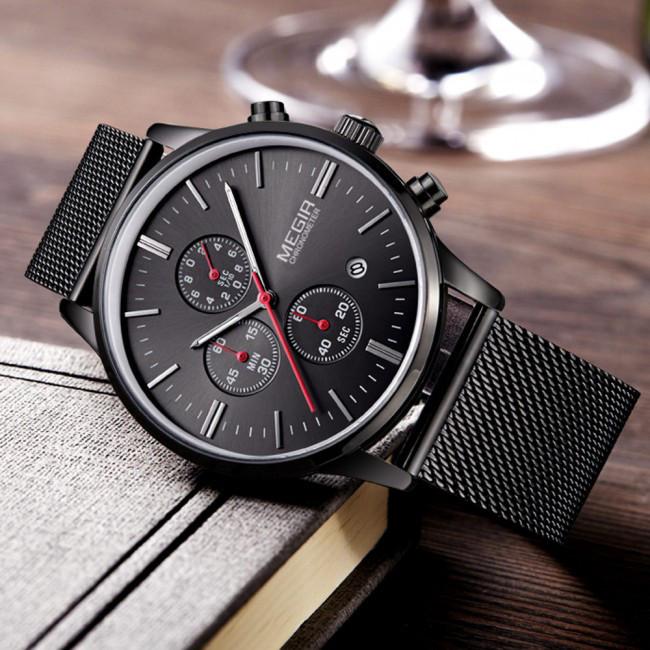 Часы Megir  Black