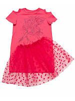 Летний сарафан для девочки с фатиновой юбкой