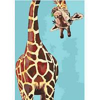 "Раскраска антистресс по номерам ""Забавный жираф"" 35 х 50 см, Без Коробки"