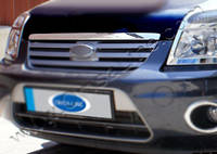 Ford Connect 2010-2014 гг. Накладка на кромку капота Хромированный пластик