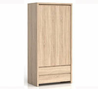 Шкаф пенал BRW Каспиан REG2D2S 90х200,5х40,5 дуб сонома