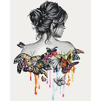 """Раскраска антистресс по номерам """"В окружении бабочек"""" 40 х 50 см, Без Коробки"""