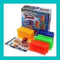 Детская гибкая игрушечная дорога Magic Tracks 220 деталей!Спешите