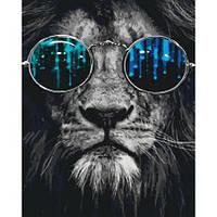"""Раскраска антистресс по номерам """"Космический лев"""" 40 х 50 см, С Коробкой"""