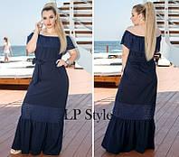 Женское летнее  платье макси  , размеры 48, 50 , 52, фото 1