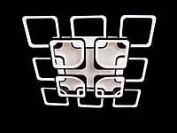 Светодиодная люстра с пультом-диммером черная  8060-8+4, фото 1