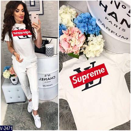 Белая футболка женская с надписью, фото 2