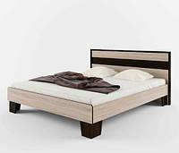 Кровать полуторная Сокме Скарлет+ламель 140х200 дуб сонома/венге