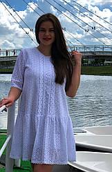 Платье больших размеров из прошвы Куколка