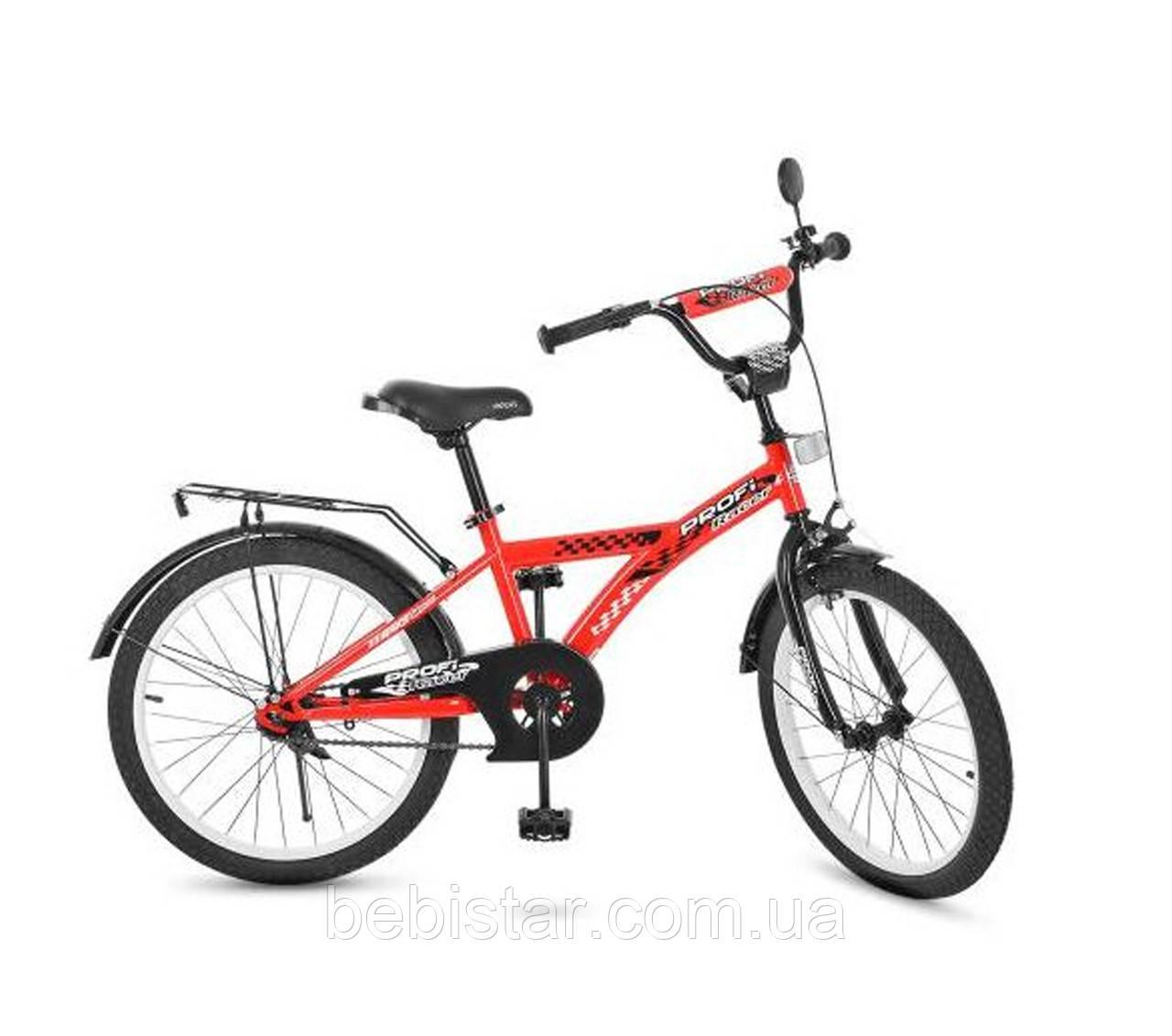 Двухколесный велосипед PROF1 20 Т2031 детям 6-9 лет цвет красный