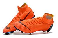 Футбольные бутсы Nike Mercurial Superfly VI 360 Elite FG Total Orange/Black/Total Orange/Volt, фото 1