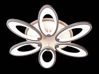 Светодиодная люстра с пультом белая 1673-6, фото 1