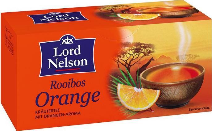Чай черный с нотками апельсина Lord Nelson 100гр