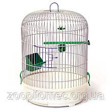 Клетка круглая золотистая для попугаев РОНДО 32,5*44 см
