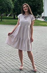 Летнее платье из прошвы для полных женщин Загадка