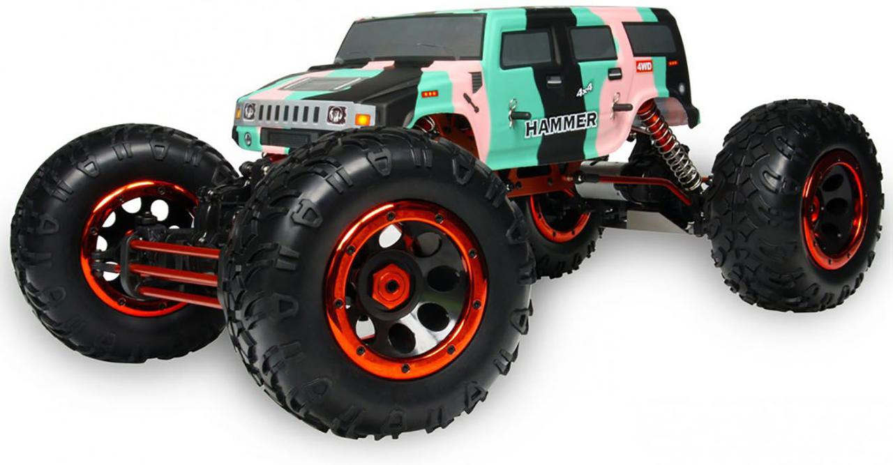 Автомобиль на радиоуправлении HSP Big Climber Hummer 1:8 4WD electro RTR