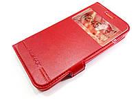 Чохол книжка з віконцем momax для Lenovo A Plus / a1010 / A1010a20 червоний
