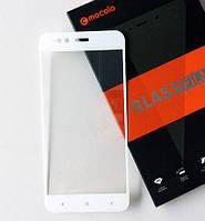 Защитное стекло Mocolo для Xiaomi Mi A1 / Mi5X полноэкранное белое, фото 1