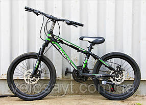 Велосипед Горный 20 дюймов, дисковые тормоза, синий