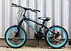 Велосипед Горный 20 дюймов, дисковые тормоза, синий, фото 5
