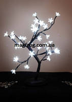 Белый цветок дерево LED 40см