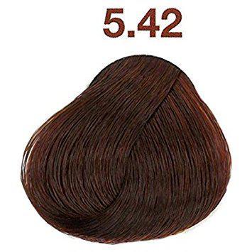 Крем-краска для красоты волос 50 мл-L'Oreal Professionnel Majirel 5.42 Светлый шатен медно-перламутровый