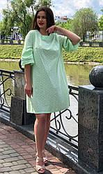 Короткое платье на лето из прошвы большие размеры Силли