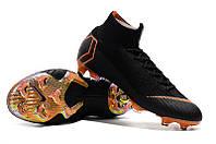 Футбольные бутсы Nike Mercurial Superfly VI 360 Elite FG Black/Total Orange/White, фото 1
