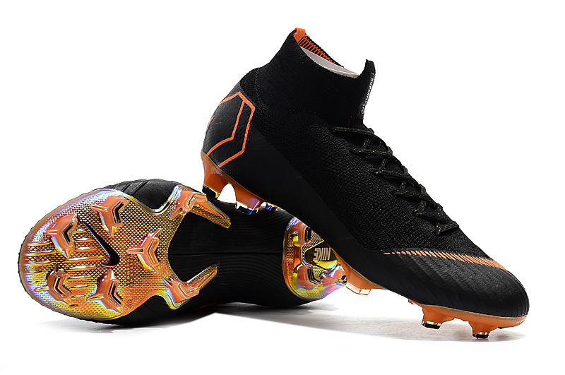 51d96ea4 Футбольные бутсы Nike Mercurial Superfly VI 360 Elite FG Black/Total  Orange/White -