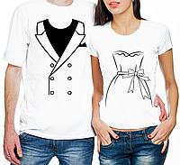 """Парные футболки """"Рисунки Костюма и платья"""" (частичная, или полная предоплата)"""
