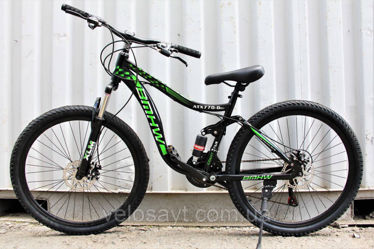 Велосипед Горный 26 дюймов Shimano оборудование, двухподвесный