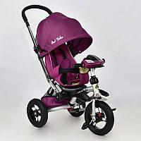 Трехколёсный детский велосипед колясочного типа Best Trike 698-6 , надувные колеса