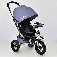Трехколёсный детский велосипед колясочного типа Best Trike 698-1, колеса надувные