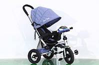 Трехколёсный детский велосипед колясочного типа Best Trike 698-3, колеса надувные