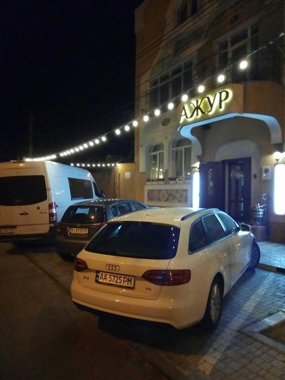 Освещение фасада гостиного комплекса АЖУР
