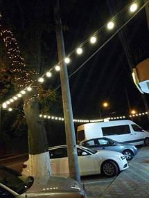 Освещение фасада гостиного комплекса АЖУР 5