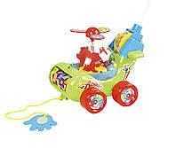 Каталочка игрушка для малышей Вертолет игрушечный 0867 на палочке, в пакете 20*16 см.