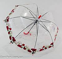 """Прозрачный детский зонтик """"цветок"""" на 6-10 лет от фирмы """"Feeling Rain"""""""