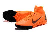 Футбольные сороконожки Nike SuperflyX VI Elite TF Total Orange/Black/Total Orange/Volt, фото 1