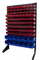 Стелаж з ящиками для метизів Городківка ящики під кріплення,ящики для складу, фото 1