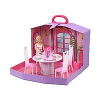 Кукольный домик игровой набор 94011HB столовая,в чемоданчике 62.5*40*40.5шт