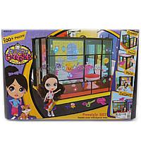 Кукольный домик игровой набор LPS 5003 сборный, с куклой, мебельюдля ванной, в коробке 48*31*7 см.