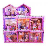 Кукольный домик игровой набор 71  210дет., 3-х этажный, в коробке  107*41*109 см.