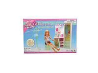 Мебель для куклы Gloria 2809  шкаф,трюмо,стул,вешалка д/одежды, коробке 28*19*6  см.